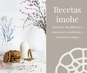 Galletas de plátano y avena con avellanas y chocolate negro
