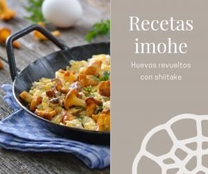 Huevos revueltos con shiitake