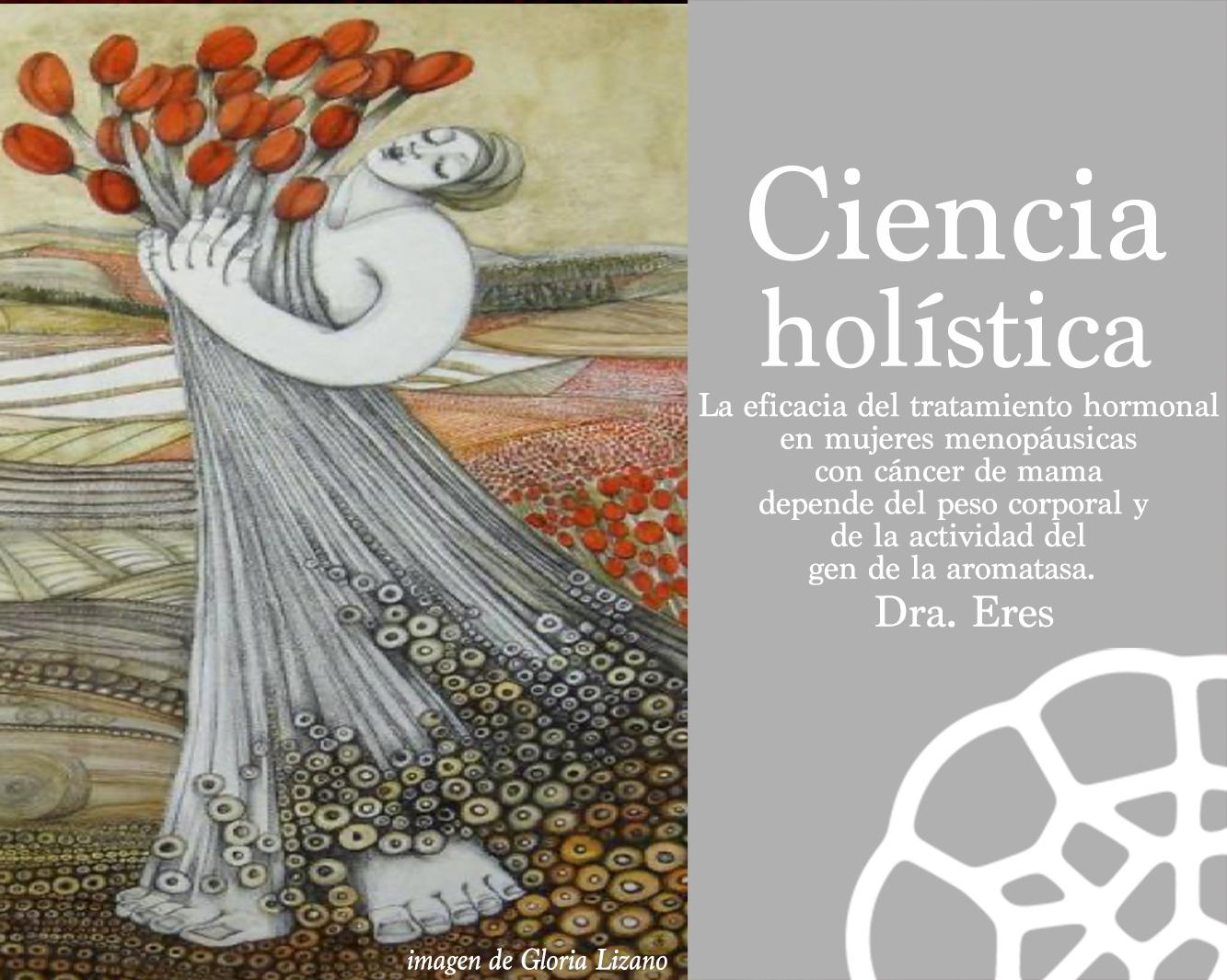 La eficacia del tratamiento hormonal en mujeres menopáusicas con cáncer de mama depende del peso corporal y  de la actividad del gen de la aromatasa.